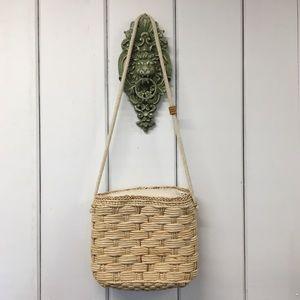 Handbags - Wicker Woven Crossbody Purse